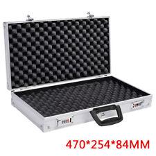Aluminium Pistol Gun Case Carry Storage Lockable Flight Tool Secure Box Silver