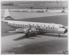 WESTERN AIRLINES - LOCKHEED ELECTRA PHOTO - BLACK AND WHITE 8 X 10