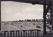 UDINE LIGNANO SABBIADORO 20 SPIAGGIA BAGNI Cartolina FOTOGRAFICA viaggiata 1955