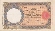 50  LIRE VERY FINE BANKNOTE FROM ITALY 1937  PICK-54b