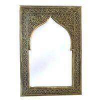 Orientalischer Marokkanischer Spiegel Orient Wandspiegel S H21 cm Silber