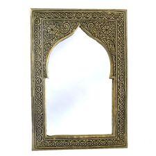 Orientalischer Marokkanischer Spiegel Orient Wandspiegel S H25 cm Silber