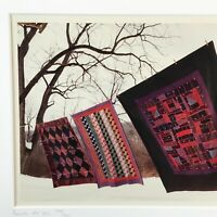 Amish Blankets by Bill Coleman, Signed, Numbered & Framed