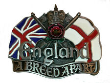 Flag England A Breed Apart White Rose Metal Belt Buckle