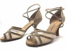 Chaussure de danse de salon pour femme:diamant couleur:beige taille: 40,5