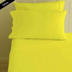 Yellow Solid Split Corner Bed Skirt Choose Drop Length US Size 800 Count