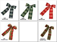 "Pre-made Bow 4""X6"" Holiday Ribbon Bow Choose Design"