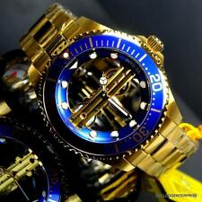 Invicta Pro Diver Ghost Bridge 47mm Gold Plated Mechanical Blue Watch