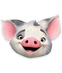 Pua Pig Official Disney Moana Child Size 2D Card Party Mask - party Fun