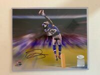 Odell Beckham JSA COA New York Giants Hand Signed 8x10 Photo THE CATCH