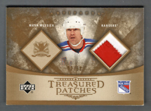 2005-06 UD Artifacts Patch Mark Messier #/50 New York Rangers Treasured Patches