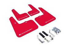Rally Armor Mud Flaps Guards for 12-16 Veloster (Red w/White Logo)