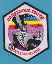 DEA DANGEROUS DRUGS INTELLIGENCE UNIT SHOULDER PATCH