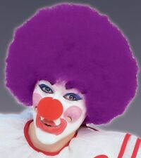 Jumbo Clown Wig Purple Afro Deluxe Adult Costume Wig