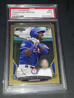 2013 Bowman #83- Jurickson Profar Gold Parallel Rookie Card! PSA Graded Mint 9!