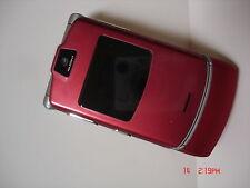 Lot Of 4 Units Motorola Razr V3 Red (Unlocked) Gsm Bluetooth parts