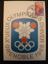 FRANCE MK 1968 OLYMPIA OLYMPICS MAXIMUMKARTE CARTE MAXIMUM CARD MC CM a9636