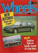 Wheels Aug 85 Volvo 740GLE Astra 323 Accord Gemini Magna Colt Corolla TVR V8