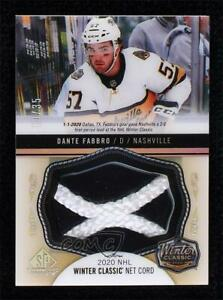 2020-21 SP Game Used NHL Winter Classic Material Net Cord 10/35 Dante Fabbro