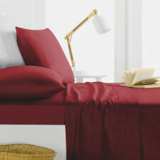 1000TC Egyptian Cotton WATERBED SHEET SET Extra Deep Pocket Dark Red