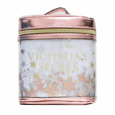 Victoria's Secret Makeup Bag Train Case Metallic Pink Travel Gift Zip Close New