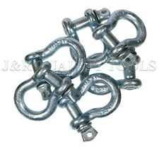 10 Lot 12 D Ring Anchor Shackle Screw Pin Clevis Towing Rigging Jeep 2 Ton