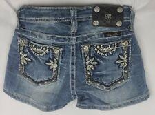 Miss Me Short Low Rise Stretch Buckle Girls Denim Shorts 10 x 2.5 JK5815H2