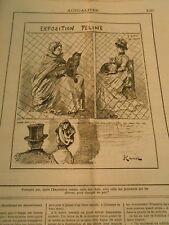 Caricature 1884 - Exposition Féline celles des chats et des personnes