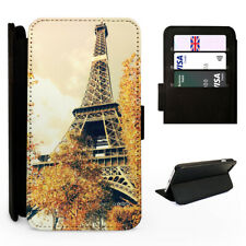 Eiffel Tower Paris Autumn France - Flip Phone Case Cover - Fits Iphone / Samsung