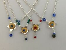 Silver Plated Flowers & Plants Round Costume Necklaces & Pendants