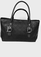 Auth CHRISTIAN DIOR Cannage Stitch Shoulder Bag Black Leather B0B1024