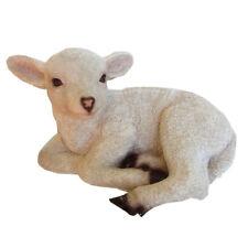 Lamb Statue Sheep Garden Ornament Art Decor 32cm