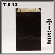 lot 10 pochettes sacs sachets enveloppes kraft bijoux cadeaux..  7x12 noir neuf