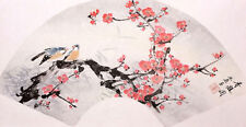 ORIGINAL ASIAN FINE ART CHINESE WATERCOLOR PAINTING-Plum blossom&Birds lover