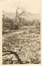 c1910 Dinwoody Creek, Wyoming Real Photo Postcard/Rppc