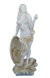 Venus sculpture Aphrodite Emerging Goddess of love and beauty active statue aged