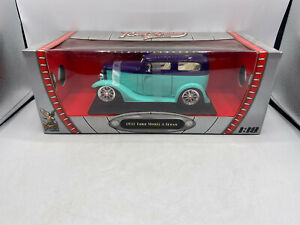 Road Signature 1931 Ford Model A Sedan Hot Rod Roadster 1/18 Scale Diecast