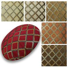Flat Round Shape Cover*Checked Chenille Floor Seat Chair Cushion Case Custom*Wk7