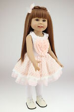 "18"" Handmade Baby Girl Doll Lifelike Vinyl Silicone Reborn Newborn Dolls Clothes"