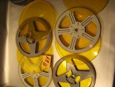 8 mm Film 4 Leerspulen in Filmdosen für 120 Meter.Nr.D.81.Film Reels