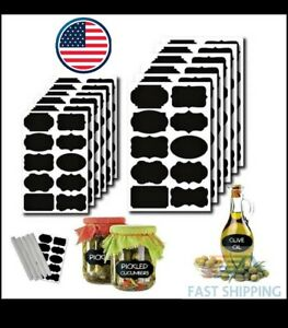 Chalkboard Labels 200 Premium Reusable Stickers, Pantry and Storage Jars. 2pens