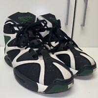 Reebok Kamikaze 1 Mid V60362 Men's Size 11.5 Shawn Kemp Sonics Shoes Black Green