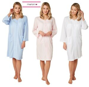 LADIES WAFFLE ZIP ROBE DRESSING GOWN  S TO L BLUE ,PINK  ,WHITE MA22794C