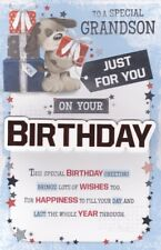 Grandson Birthday Card Large 8 Page Verse Card Special Keepsake Card