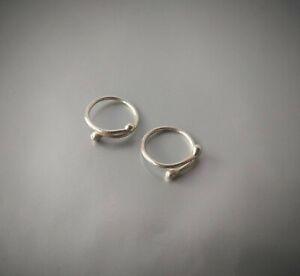 2 pcs Non Piercing adjustable NippleRing Sterling silve 14 Karat gold plated