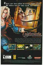 NINTENDO DS Konami CASTLEVANIA PORTRAIT OF RUIN video game print ad page