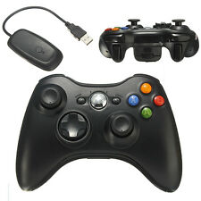 Black Wireless Video Game Remote Controller for PC Microsoft XBOX 360 Console