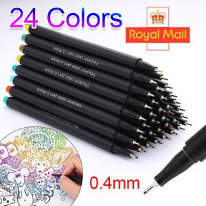 24Colors Acrylic Paint Marker Pens Fine Tip Pen Rock Metal Glass Waterproof