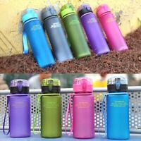 5Colors Kids Outdoor Sports School Drinking Juice Water Bottle Cup 400ml New