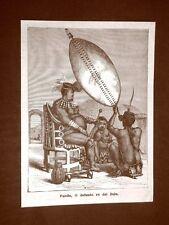 Sudafrica nel 1879 Panda Re dei Zulu o Zulù Nazione Ngoni Africa